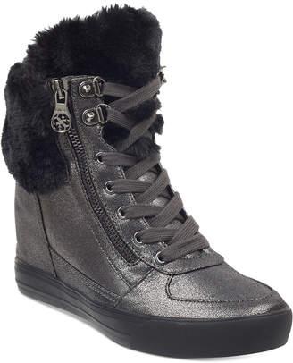 GUESS Women Dustyn Wedge Sneakers Women Shoes