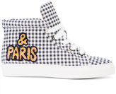 Laurence Dacade checked hi-top sneakers - women - Cotton/Calf Leather/rubber - 35.5