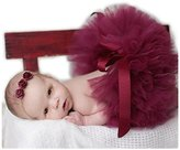 Hobees Fashion Unisex Newborn Girl Baby Outfits Photography Props Headdress Tutu Skirt