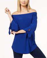 INC International Concepts Off-The-Shoulder Tie-Sleeve Top, Created for Macy's
