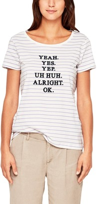 S'Oliver Women's 21.807.32.3947 T-Shirt