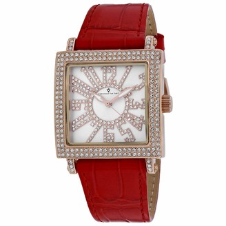 Lumina Christian Van Sant Women's Stainless Steel Quartz Leather Strap Red 20 Casual Watch (Model: CV0243)