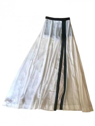 La Perla White Silk Skirt for Women