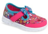 Skechers Toddler Girl's Go Walk Bow-Moji Sneaker