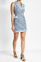 Balmain Bouclé Dress with Denim