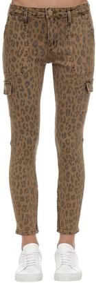 Frame Leopard Print Skinny Cargo Jeans