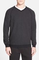 Tommy Bahama Men's 'Make Mine A Double' Reversible Pima Cotton V-Neck Sweater