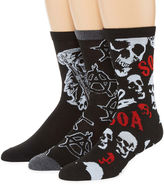 Asstd National Brand Sons of Anarchy 3-pk. Crew Socks