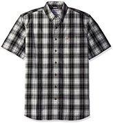 Carhartt Men's Big and Tall Essential Plaid Button Down Short Sleeve Shirt