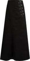 Ellery Rubinstein eyelet-embellished denim skirt