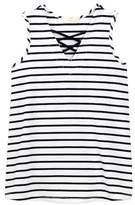 Soprano Lattice Front Striped Tank (Little Girls & Big Girls)