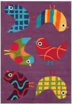 Purple Birds Designer Kids Rug