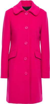 Love Moschino Embellished Wool-blend Felt Coat