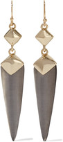 Alexis Bittar Gold-tone, enamel and lucite earrings