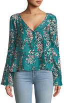 Cupcakes And Cashmere Nadette V-Neck Floral-Print Top