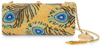 Judith Leiber Peacock Feathers Clutch Bag