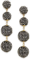 INC International Concepts Gold-Tone Beaded Pom Pom Drop Earrings, Created for Macy's