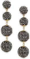 INC International Concepts I.N.C. Gold-Tone Beaded Pom Pom Drop Earrings, Created for Macy's