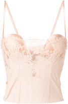 La Perla lace panel bustier - women - Silk/Cotton/Polyamide/Spandex/Elastane - 1