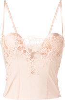La Perla lace panel bustier - women - Silk/Cotton/Spandex/Elastane/Polyamide - 1