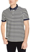 Nautica Men's Slim Fit Striped Button-Down Polo Shirt