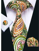 Hi Tie Hi-Tie Unique Style Paisley Silk Tie Set Party