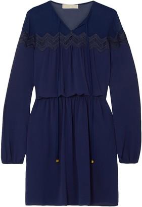 MICHAEL Michael Kors Lace-trimmed Crepe Mini Dress
