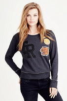 True Religion Patch Work Womens Sweatshirt