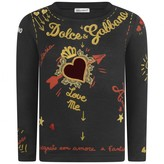 Dolce & Gabbana Dolce & Gabbana*EXCLUSIVE* Girls Black Amore e Fantasia Top