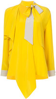 Fendi flared asymmetric blouse