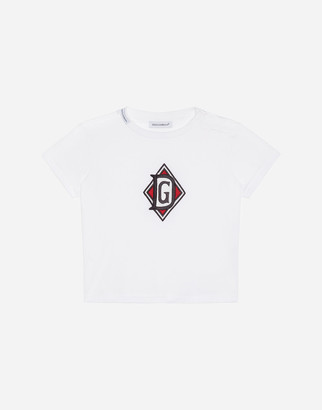Dolce & Gabbana Short Sleeved T-Shirt With Patch
