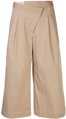 Monse Cropped Pleated Wide-Leg Trousers