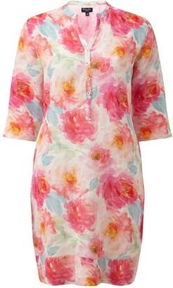 Nologo Chic Dizzy Lizzy Linen Tunic Dress