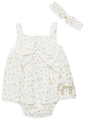 Juicy Couture Baby Girl's 2-Piece Headband Skirted Sunsuit Set