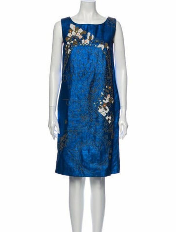 Matthew Williamson Printed Knee-Length Dress Blue