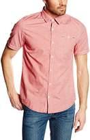 Garcia Men's Slim Fit Short Sleeve Leisure Shirt - Purple -