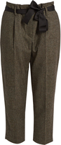 Brunello Cucinelli Prince of Wales-checked wool-blend trousers
