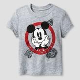 Toddler Boys' Disney® Valentine's Mickey Mouse Short Sleeve T-Shirt - Heather Grey