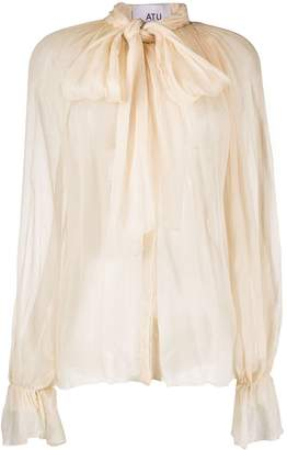 Couture Atu Body silk pussy bow blouse