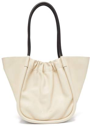 Proenza Schouler Ruched Large Leather Tote Bag - Womens - White