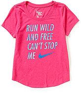 Nike Big Girls 7-16 Run Wild And Free Can't Stop Me Short-Sleeve Tee