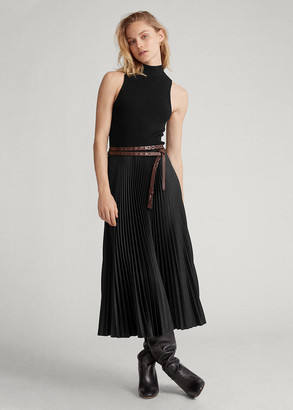 Ralph Lauren Sleeveless Mockneck Dress