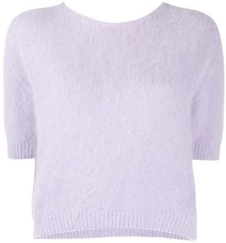 Roberto Collina Half-Sleeve Knitted Top