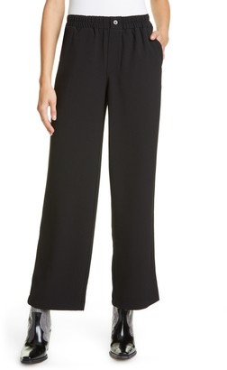 Ganni Crepe Wide Leg Pants