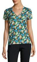 Carven Floral-Print Cotton Tee