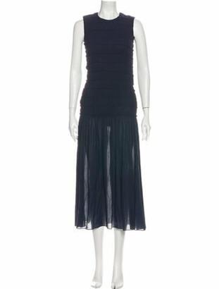 Akris Punto Sleeveless Maxi Dress w/ Tags Blue