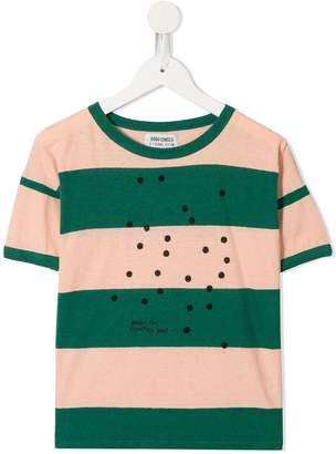 Bobo Choses Bees striped T-shirt