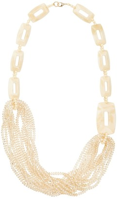 Pietrasanta Luxury Cream & Crystal Statement Necklace