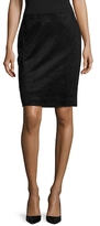BCBGMAXAZRIA Amaris Faux Suede Pencil Skirt