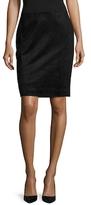BCBGMAXAZRIA Amaris Faux Suede Pencil Skirt